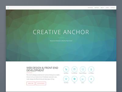 Creative Anchor Homepage web design portfolio portfolio web design