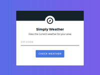 Simply Weather Web App