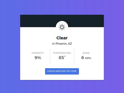 Simply Weather Web App - Detail View web app weather ui design web design weather app