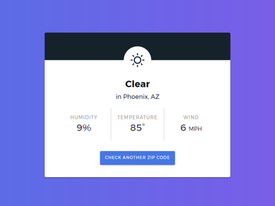 Simply Weather Web App - Detail View