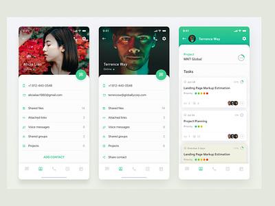 Messenger as Project Management Platform mobile app design app designer app development company app development app design project management project management tool messenger app