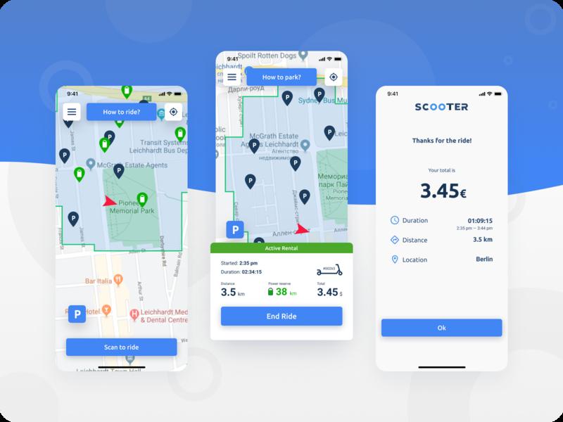 Scooter sharing app design scooter sharing app designer app development company mobile app design app design app development escooter app scooters