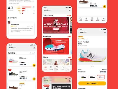 Shopping app for a sporting goods store shopping app fitness app sporting goods app development company mobile app design app designer app development app design