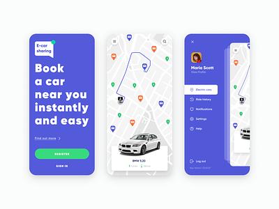Car Sharing Mobile App, UI/UX Design - Part 1 car sharing app ride sharing app ridesharing ui ux design app development company mobile app design app development app design car sharing car