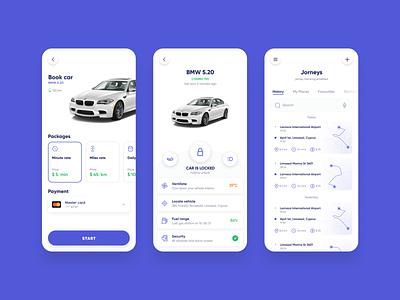 Car Sharing Mobile App, UI/UX Design - Part 2 car sharing app car sharing app designer mobile app design ui ux design app development company app development app design