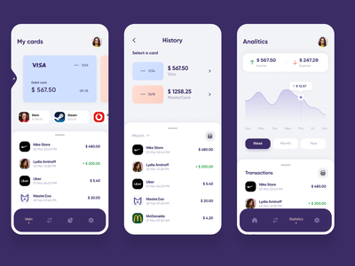 Mobile Banking App. UI/UX Design app designer fintech app mobile app design app development ui ux design app development company app design mobile banking app mobile banking