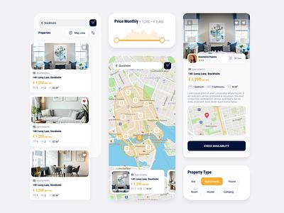 Real Estate App -  UI UX Design app designer ui ux design mobile app design app design app development company app development real estate app real estate
