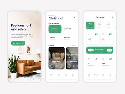 Smart Home App - UI UX Design app designer mobile app design ui ux design app design app development company app development home automation smart home app smarthome