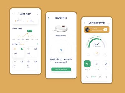 Smart Home App - UI UX Design app designer ui ux design app design mobile app design app development company app development home automation smart home app