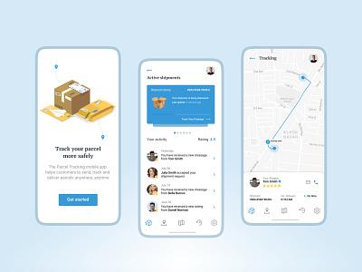 Parcel Tracking Mobile App | UI/UX Design parcel delivery app ui ui ux design mobile app design app development company app development logistics app design logistics app parcel tracking