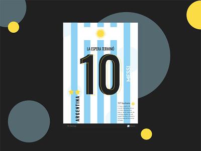 Congratulations, Messi & Argentina copa america blue football argentina meesi poster poster design