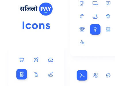Digital Wallet Icons (Nepal) vector icons ui icons icon pack iconset iconography transportation icons utility icons education icons payment icons nepali e-wallet sajilopay iconly line icons flat icons curve icons e-wallet icons e-wallet digital wallet icons