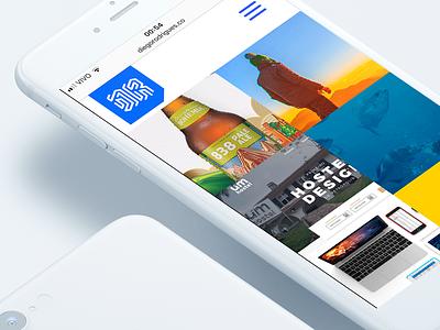 Portfolio clean flat mockup mobile brazil portfolio interface ui
