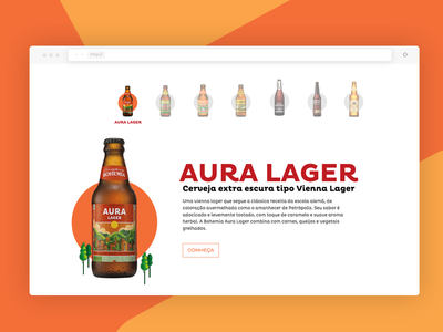 Bohemia Beer petropolis craft beer bohemia design interface ux webdesign ui