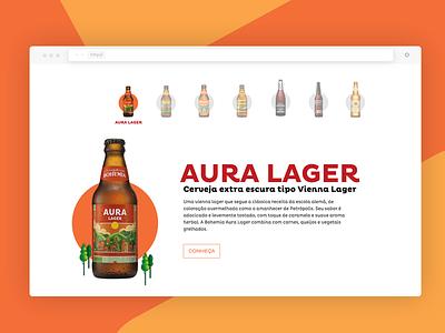 Bohemia Beer petropolis craft beer bohemia design interface ux webdesign ui