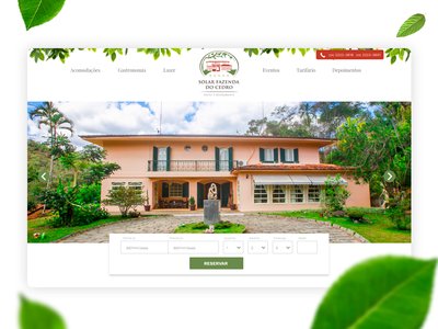 Hotel Booking house hotel white clean flat desktop leafs booking nature webdesign ui mobile