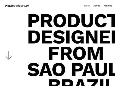 New Portfolio skech black  white portfolio type