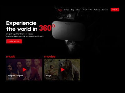 VR dark interface dark background vr desktop ux design interface clean ui