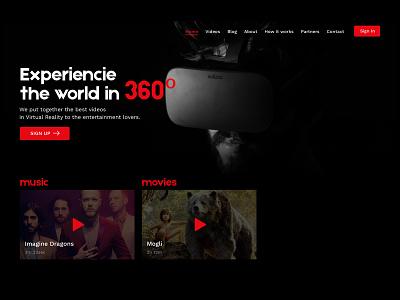 VR dark interface dark background vr desktop ux design interface clean ui