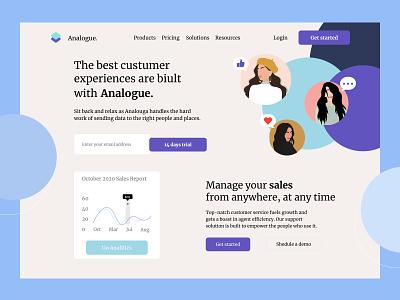 Sales Management Dashboard App concept illustration app ui web page design design