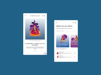 Present certificate app Concept illustration app ui web design