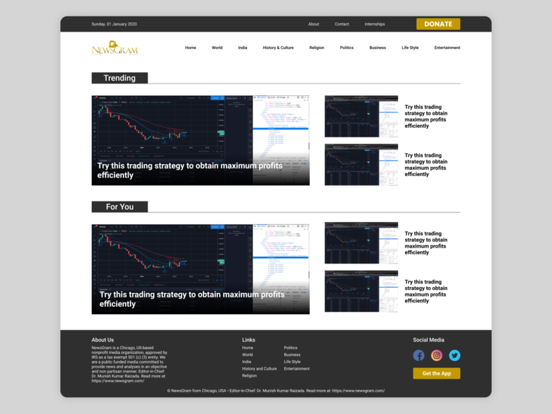 Newsgram Redesign Concept ui app webdesigner webdesign design figma uidesign web redesign