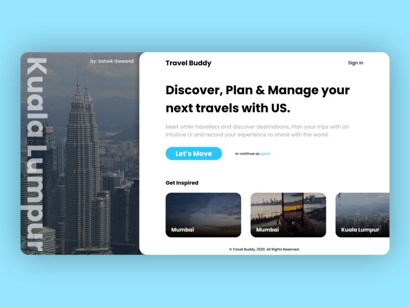 Travel Buddy concept design concept travel app webdesign uidesign design travel