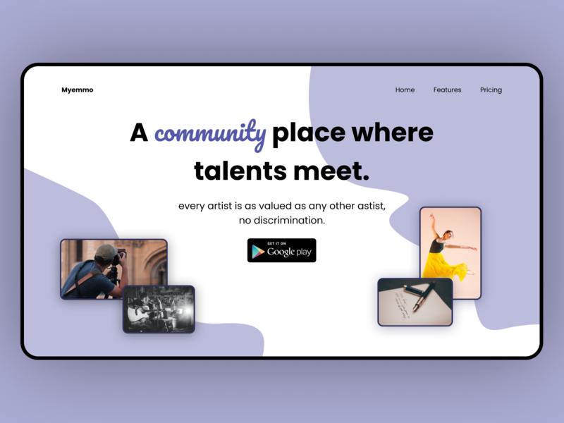 myemmo.com concept design typography webdesigner web ui figma concept design webdesign concept uidesign design