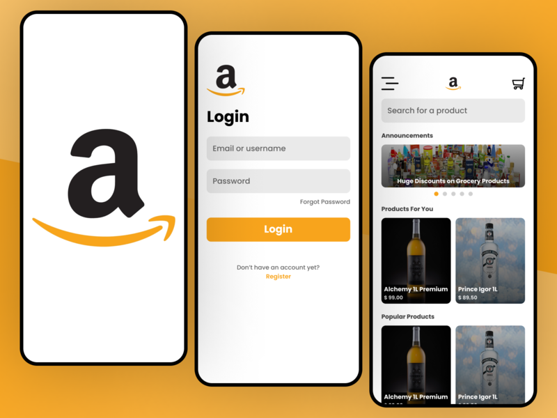 Amazon Concept appdesign mobileapps mobile app mobile ui redesign app ui app design mobileapp app mobile amazon ui figma concept design concept design uidesign