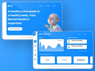 Bind Concept Design webdesigner web webdesign ui figma concept design concept uidesign design