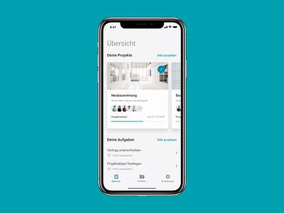 🏠️ Home Screen – ZipApp animation aftereffects ae app design ux ui minimal mangement interface design cards ui application app