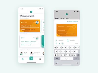 🏠️ Home – sonme modern minimal mangement tabbar cards ui ux ui interface design application app design app