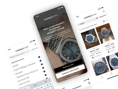 ⌚️ Chronotory ios modern search results home search minimal mangement cards ui ux ui interface design application app design app