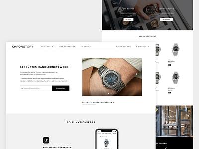 Landingpage ⌚️ Chronotory dashboard desktop app design landingpage website desktop search logo branding modern minimal interface application ux ui app