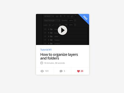 Video Post rebound video widget clean ui interface flat design