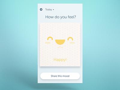 Moodhue - Mood Tracker App minimalist app design happy ui app mood