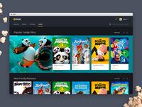 Web Movie App UI