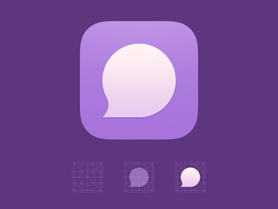 GumChat App Icon bubble gum ios purple mobile messaging chat icon app icon app