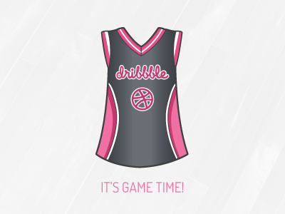 Game Time! debut basketball jersey dribbble