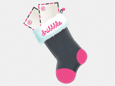 Christmas Dribbble Giveaway stocking christmas invite dribbble giveaway
