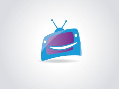 Tv Logo tv logo icon blue