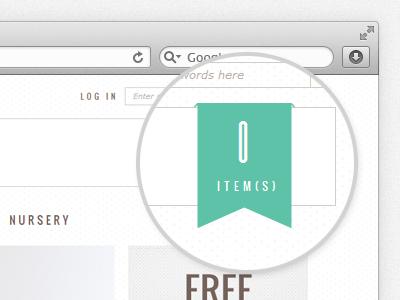 Cart Ribbon cart ribbon magnifying glass web design header browser