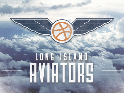 Long Island Aviators aviators wings dribbble rebound playoff airship 27