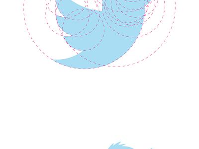 Larry's Hairdo new twitter bird logo redesign