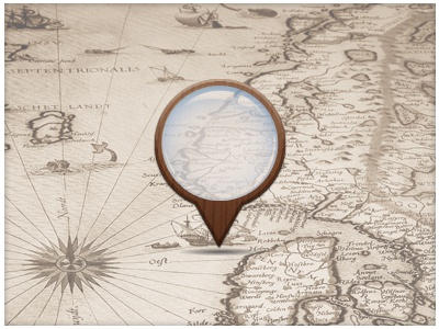 Map Pin rebound map map marker map pin magnifying glass antique
