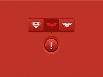 Help Tooltip red button tooltip rebound batman superman wonder woman