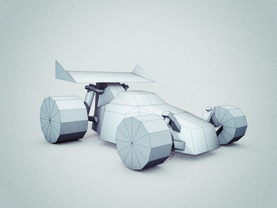 Toy Buggy cel renderer cinema 4d c4d 3d low poly ambient occlusion toy car