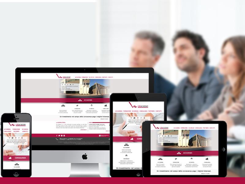 Logacademy Responsive Site  logacademy responsive site website webdesign complic studio mobile