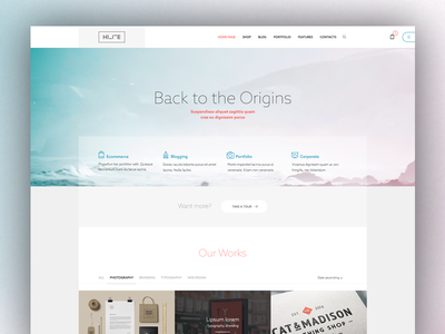 More Light And Geometry light home page balance minimal clear wordpress theme