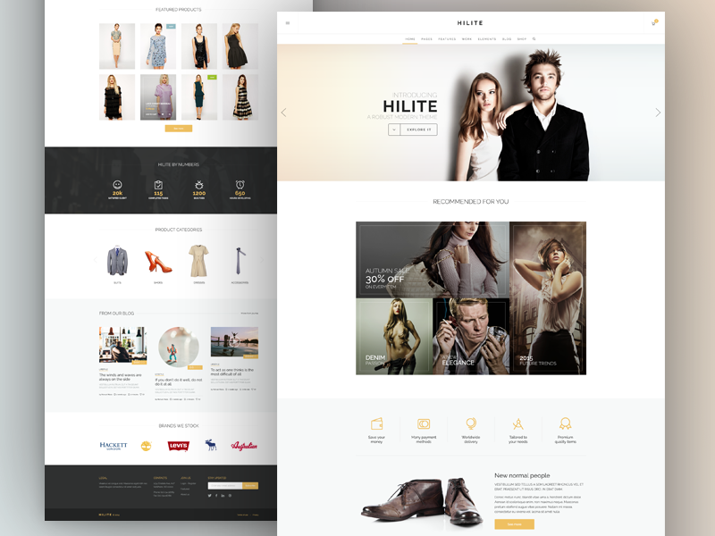 Home Shop Rb wordpress theme ecommerce shop layout clean elegant